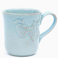Голубые чашки для чая Costa Nova Mediterranea 6шт, фото