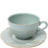 Набор из 6 чайных чашек с блюдцами Costa Nova Mediterranea голубого цвета, фото