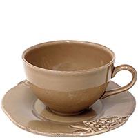 Набор из 6 чашек с блюдцами Costa Nova Mediterranea коричневый, фото