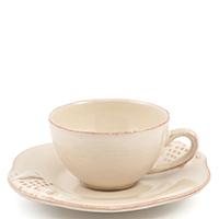 Чашка с блюдцем для кофе Costa Nova Mediterranea бежевого цвета 90мл, фото