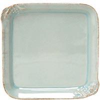 Блюдо квадратное Costa Nova Mediterranea голубого цвета 21х21см, фото