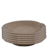 Набор из 6 тарелок для супа Costa Nova Mediterranea коричневого цвета 570мл, фото