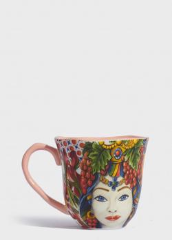 Чашка с рисунком Baci Milano B&R Milano 10см из фарфора, фото