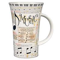 Чашка Dunoon Glencoe с принтом фактов о музыке 500мл, фото