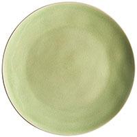 Тарелка обеденная светло-зелёная Costa Nova Riviera, фото