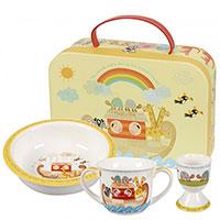 Набор детской посуды Churchill Little Rhymes декорированный рисунками радуги, фото