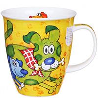 Чашка Dunoon Nevis Dogs n puppies Yellow, фото