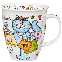 Чашка Dunoon Nevis Purrfect Cats Purrchase 0.48 л, фото