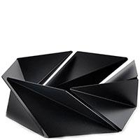 Ваза для фруктов Alessi Kaleidos черного цвета, фото