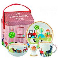 Набор детской посуды Churchill Little Rhymes в упаковке стилизованной под ферму, фото