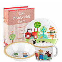 Набор детской посуды Churchill Little Rhymes с рисунками из фермерской жизни , фото