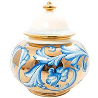 Емкость для хранения L'Antica Deruta Oro Antico золотистого цвета, фото