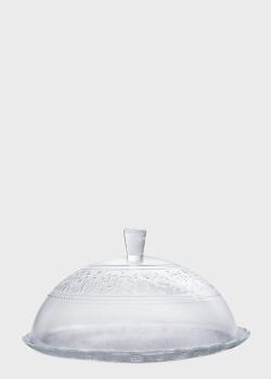 Тортовница с крышкой Mercury 31см с рельефным узором, фото