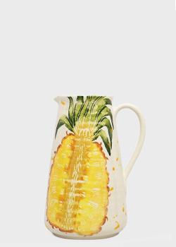 Кувшин Villa Grazia Фруктовый коктейль 30см с рисунком ананаса, фото