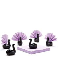 Подставки для салфеток Peleg Design Swans черные 6шт, фото