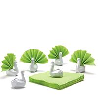 Подставки для салфеток Peleg Design Swans белые 6шт, фото