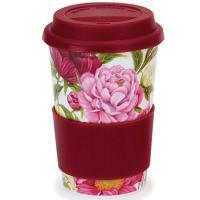 Кружка Dunoon Travel mug с цветочным принтом 440мл, фото
