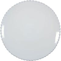 Тарелка для салата Costa Nova Pearl 22см белая, фото