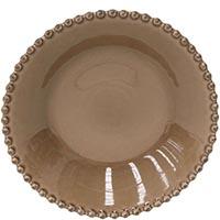 Тарелка для супа Costa Nova Pearl коричневая 24см, фото