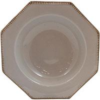 Тарелка для супа Costa Nova Luzia светло-серая 24см, фото