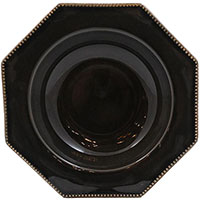 Тарелка для супа Costa Nova Luzia темно-серая 24см , фото