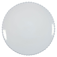Тарелка обеденная Costa Nova Pearl белого цвета 28см, фото