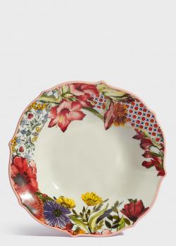 Суповая тарелка Baci Milano B&R Milano 22см из фарфора, фото