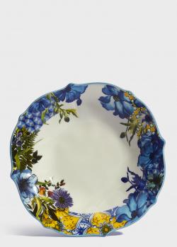Фарфоровая тарелка Baci Milano B&R Milano 22см для супа, фото
