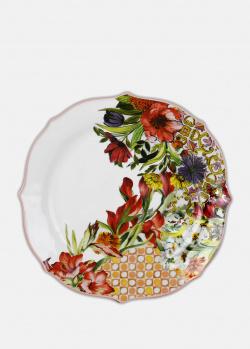 Фарфоровая тарелка Baci Milano B&R Milano 20,5см для десертов, фото
