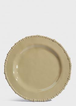 Обеденная тарелка Baci Milano Joke Table & Kitchen 28см цвета тауп, фото