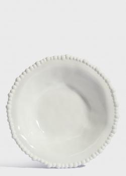 Тарелка для супа Baci Milano Joke Table & Kitchen 21,5см белого цвета, фото
