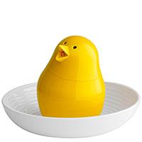 Набор из подставки для яиц и солонки Qualy Jib-Jib, фото