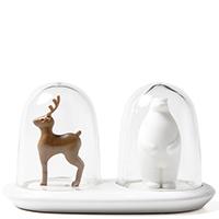 Набор для соли и перца Qualy Wildlife Deer+Bear, фото