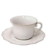 Белая чашка с блюдцем Costa Nova Barroco 220мл, фото