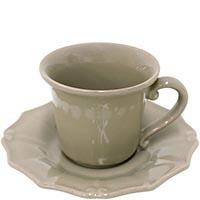 Чашка для кофе с блюдцем Costa Nova Barroco коричневая 120мл, фото