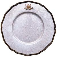 Тарелка подставная Royal Family с бронзовой каймой, фото