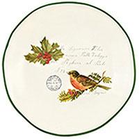Тарелка обеденная Villa Grazia Рождественская трель 29см, фото