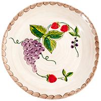 Тарелка обеденная Villa Grazia Клубника и виноград 30см, фото
