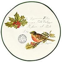 Набор тарелок для салата Villa Grazia Рождественская трель на 6 персон, фото