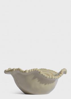 Бежевый салатник Baci Milano Joke Table & Kitchen 20см, фото