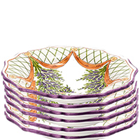 Набор тарелок L'Antica Deruta Glicine 6 шт 24 см, фото