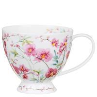 Белая чашка Dunoon Skye с цветочным принтом 450мл, фото