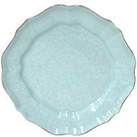 Керамическая тарелка Costa Nova Impressions бирюзового цвета, фото