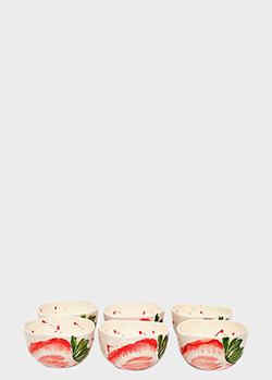Набор из 6-ти пиал Villa Grazia Фруктовый коктейль 16,5см, фото