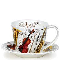 Чашка Dunoon Islay с рисунком музыкалных инструментов 350мл, фото