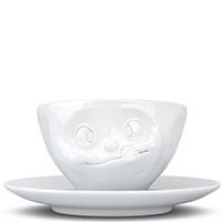 Белая чашка Tassen (58 Products) Tasty с блюдцем, фото