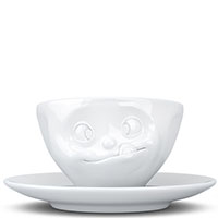 Белая чашка Tassen Tasty с блюдцем, фото