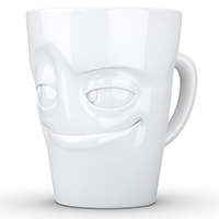 Чашка c ручкой Tassen Impish глянцевая белая, фото