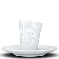 Чашка с блюдцем Tassen (58 Products) Cheery белого цвета, фото
