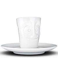 Кофейная чашка с блюдцем Tassen Tasty белого цвета, фото